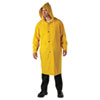 Raincoat, PVC/Polyester, Yellow, Size 2X-Large