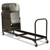 6' Folding Chair Cart, 25-Chair Capacity, Black