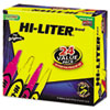 HI-LITER Desk/Pen Style Highlighter, Assorted Ink, Chisel, 24/Pack