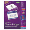 Avery Badge Holders w/Laser/Inkjet Inserts, Top Load, 3 x 4, White, 40/Box