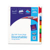 WorkSaver Big Tab Extrawide Dividers W/ 8 Multicolor Tabs, 9 x 11, White, 1/Set