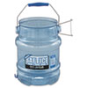 San Jamar Saf-T-Ice Tote, 5gal, Transparent Blue