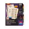 Avery Ready Index Contents Dividers, 10-Tab, 1-10, Letter, Multicolor, 10/Set