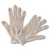 String Knit General Purpose Gloves, Large, Natural, 12 Pairs