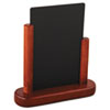 Securit Table Boards, 6 1/2 x 2 x 6 3/4, Mahogany Frame, 1/ea