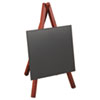 Securit Easel Table Board, 5 7/8 x 5 3/8 x 9 1/2, Mahogany Frame, 1/ea