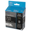 "LabelWorks Standard LC Tape Cartridge, 1/2"", White on Black"