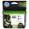 CR314FN140 (HP 951) Ink Cartridge, 700 Page-Yield, Cyan, Magenta, Yellow, 3/Pk