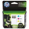 CR314FN140 (HP 951) Ink Cartridge, 700 Page-Yield, Cyan, Magenta, Yellow, 3/Pk