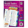 Ready Index Two-Column Table of Contents Divider, Title: 1-24, Multi, Letter