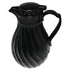 Hormel Poly Lined Carafe, Swirl Design, 64 oz. Capacity, Black