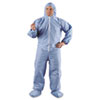KLEENGUARD A65 Hood & Boot Flame-Resistant Coveralls, Blue, 4XL, 21/Carton