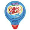Coffee-mate Liquid Coffee Creamer, Mini Cups, French Vanilla, 180/Box