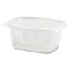 Genpak Clear Hinged Deli Container, 16oz, 5 3/8 x 4 1/2 x 2 5/8, 100/Bag, 2 Bags/Carton