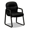 2090 Pillow-Soft Series Guest Arm Chair, Black Upholstery/Black Sled Base
