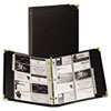 Vinyl Business Card Binder Holds 200 2 x 3 1/2 Cards, Ebony