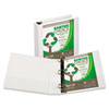 "Earth's Choice Biodegradable Angle-D Ring View Binder, 2"" Capacity, White"