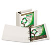 "Earth's Choice Biodegradable Round Ring View Binder, 4"" Capacity, White"