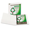 "Earth's Choice Biodegradable Angle-D Ring View Binder, 1-1/2"" Capacity, White"