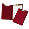 Pad Holder, Heavy Vinyl, Brass Clip, Writing Pad, Inside Pocket, Burgundy