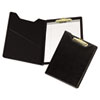 Samsill Value Padfolio, Heavyweight Sealed Vinyl, Brass Clip, Inside Front Pocket, Black