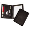 Samsill Executive Pad Holder, Writing Pad, Assorted Pockets, Vinyl, Black