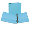 "Presentation View Binder, Round Ring, 11 x 8-1/2, 2"" Capacity, Turquoise, 2/Pack"