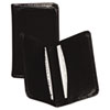 Regal Leather Business Card Wallet Holds 25 2 x 3 1/2 Cards, Black