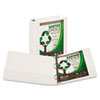 "Earth's Choice Biodegradable Round Ring View Binder, 2"" Capacity, White"
