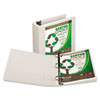 "Earth's Choice Biodegradable Round Ring View Binder, 3"" Capacity, White"
