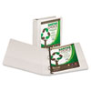 Earth's Choice Biodegradable Round Ring View Binder, 1-1/2&quot; Capacity, White