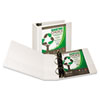 "Earth's Choice Biodegradable Angle-D Ring View Binder, 4"" Capacity, White"