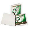 "Earth's Choice Biodegradable Round Ring View Binder, 1"" Capacity, White"