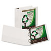"Earth's Choice Biodegradable Angle-D Ring View Binder, 3"", White"