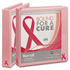 Breast Cancer Awareness View Binder, 1&quot; Capacity, Pink