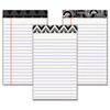 Fashion Legal Pads with Assorted Headtapes, 5 x 8, 50 Sheets/Pad, 6 Pads/Pack
