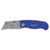 Great Neck 12113 Sheffield Folding Lockback Knife, 1 Utility Blade, Blue GNS12113 GNS 12113