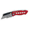 Great Neck 58113 Sheffield Lockback Knife, 1 Utility Blade, Red GNS58113 GNS 58113