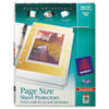 Top-Load Poly 3-Hole Punched Sheet Protectors, Ltr, Diamond Clear, 50/Box