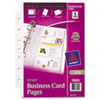 Avery Business Card Binder Pages, 8 2 x 3 1/2 Cards/Page, 5 Pages/Pack