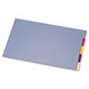 Tabloid-Size Poly Index Divider, 5-Tab, Assorted Colors