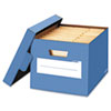 Stor/File Decorative Storage Box, Letter/Legal, Cornflower Blue, 4/Carton