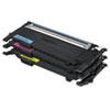 Samsung CLTP407A Toner, Cyan/Magenta/Yellow, 3/Box