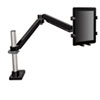 Easy-Adjust Monitor Arm Tablet Support, 4 1/2 x 1 1/4, Black