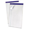 Ampad Recycled Writing Pads, Legal, White, Perfed, 50 Sheets, Dozen