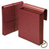 "Vertical 3 1/2"" Expansion Wallet, Red Fiber, Letter"
