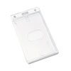 Frosted Rigid Badge Holder, 3 3/8 x 2 1/8, Clear, Vertical, 25/PK