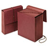 Vertical Indexed Expanding Wallet, A-Z, 21 Pockets, Red Fiber, Letter
