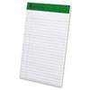 Earthwise 100% Recycled Perforated Pads, Jr. Legal Rule, 5 x 8, White, 12/Pack