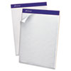 Ampad Quad Double Sheet Pad, 8 1/2 x 11 3/4, White, Perfed, 100 Sheets
